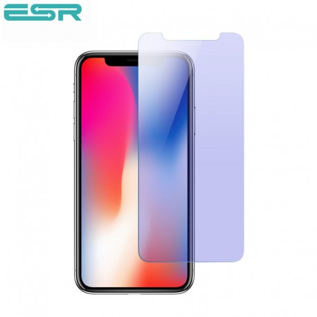 ESR iPhone XS / X Tempered Glass Screen Protector, Anti Blue