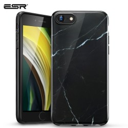ESR iPhone SE 2020 / 8 / 7 Marble Slim Soft Case, Black
