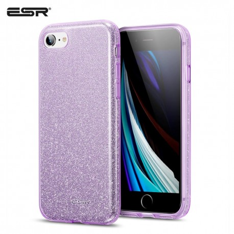 ESR iPhone SE 2020 / 8 / 7 Makeup Glitter Case, Purple