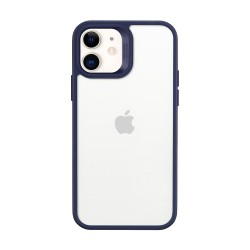 ESR Classic Hybrid iPhone 12, Blue bumper Clear back