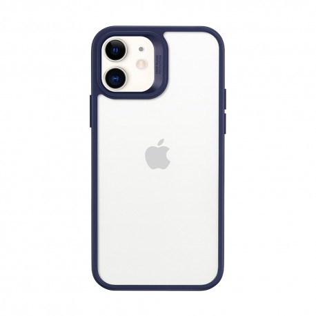 ESR Classic Hybrid iPhone 12, Blue bumper Clear back