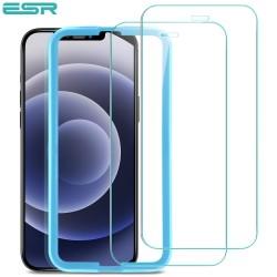 Folie sticla securizata ESR, Tempered Glass iPhone 12 / 12 Pro, Set 2 bucati